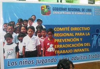 """Seminario """"Trabajo Infantil en la Región Lima."""