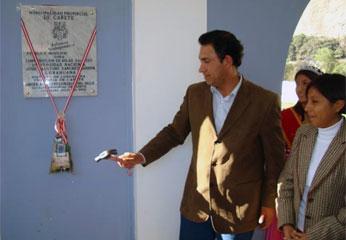 Alcalde de Cañete Javier Alvarado Gonzáles del Valle.