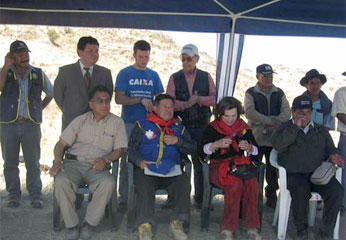 La inauguración esta de obra, beneficiará a más 500 pobladores de la referida comunidad.