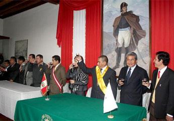 Salón de actos del histórico museo de sitio San Martiniano.