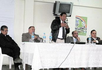 La reunión se llevó a cabo en el auditorio de la Institución Educativa Nº 21011 de Barranca.