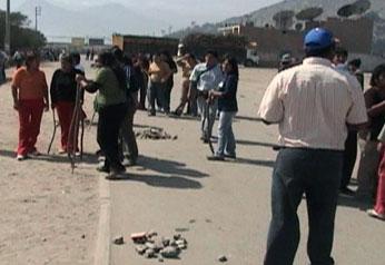 Foto archivo. Enfrentamiento en Andahuasi.