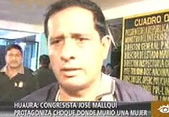 El congresista José Mallqui Beas
