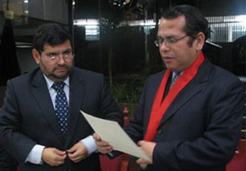 El programa de inicio la dio el presidente de la Corte de Huaura, Dr. Víctor Mosquiera Neira