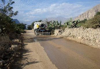 Carretera Vilcahuaura - Ambar