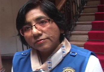 Presidenta del Rotary Club Huacho Miriam Noreña Lucho.