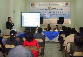 El evento estuvo dirigido a las autoridades, funcionarios regionales y locales, miembros del Comité de Vigilancia, integrantes del Consejo de Coordinación Regional (CCR), líderes sociales y sociedad civil, entre otros, y se desarrolló en el auditorio de la Casa del Maestro, en la ciudad de Huacho.