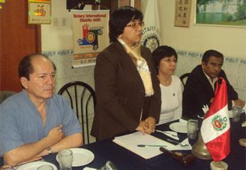 Rotary Club Huacho inició una nueva etapa con su presidenta A.R Miriam Noreña