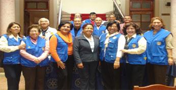 Integrantes del Rotary Club Huacho