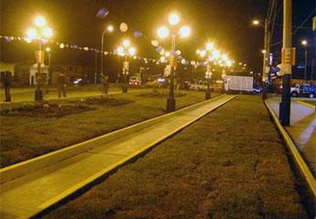 Boulevard al ingreso de Santa María