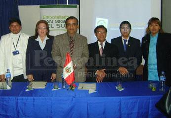Autoridades de la universidad San Pablo.