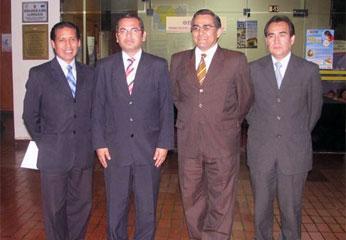 Dr. Alfredo Ricardo Natividad, Dr. Víctor Mosqueira, Dr. Gerardo Castro, Dr. Oscar León.