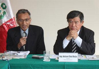 Presidente del Gobierno Regional de Lima, Ing. Nelson Chui Mejía.
