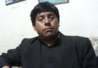 Hijo del occiso José Condori Sandoval.