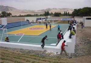 Inauguración de losa deportiva multiuso