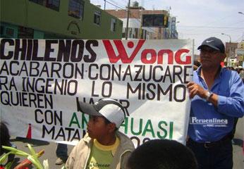 Marcharon por principales calles huachanas pidiendo justicia
