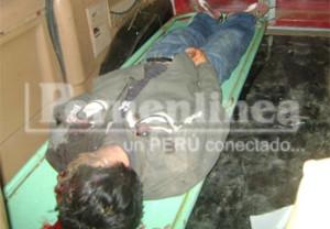 Cuerpo sin vida del trabajador de Andahuasi.