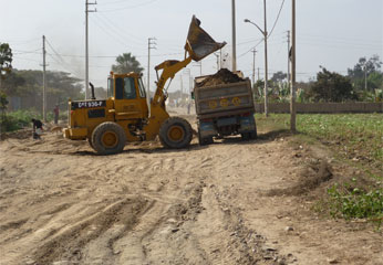 Obras en el distrito de Santa María.