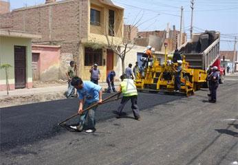 Trabajos de mejoramiento del Asentamiento Humano San Bartolomé I
