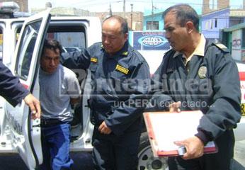 Basiliano Gallardo asesino de conviviente, fue capturado por la policía.