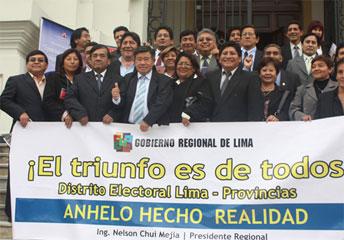 Autoridades de la Region Lima en Congreso.