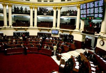 Pleno del Congreso. Foto Andina.