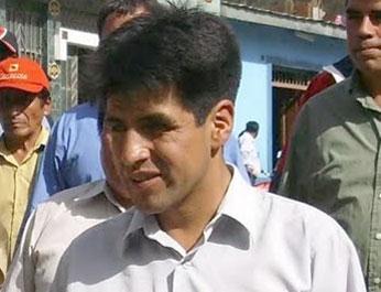 Diomides Dionisio Inga, alcalde de la municipalidad provincial de Yauyos