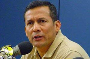 Líder del Partido Nacionalista, Ollanta Humala