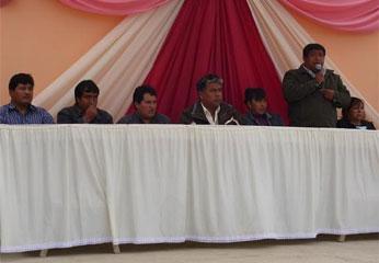 Autoridades del distrito de Santa María.