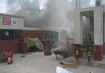 Incendio del grifo de Oyón.