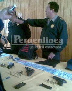 La policía de Huaura logró recuperar lo robado.