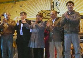 Vicente Sánchez estuvo presente en la celebración en Huacho por el Distrito Electoral.